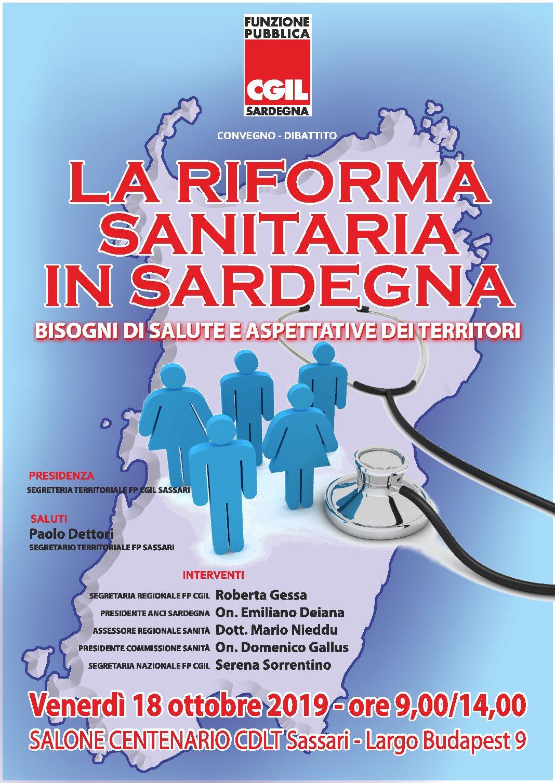 La riforma sanitaria in Sardegna, bisogni di salute e aspettative dei territori – SASSARI, 18 ottobre 2019.