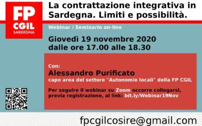 La contrattazione integrativa in Sardegna. Limiti e possibilità. Il materiale del webinar