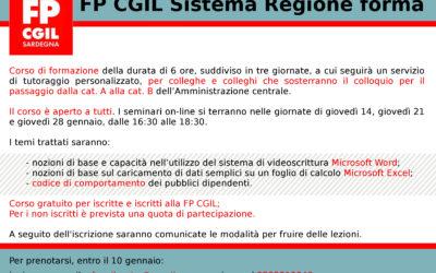 FPCGIL Sistema Regione Forma